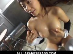 breasty oriental doxy receives bawdy by slurping