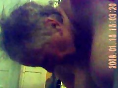 spy granny naked - out of the shower and wiping
