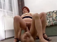 wicked redhead old bitch goes eager riding part5