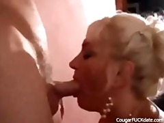excited cougar acquires what she needs