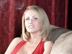 smokin blond with piercing milk cans