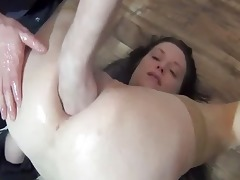fisting the wifes butt for the st time