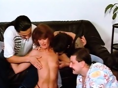 slutty whore has a great time with bunch of boyz