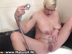 tattooed older housewife playing part3