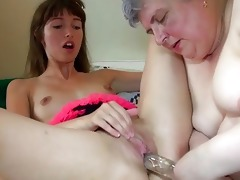 large plump granny with a cute gal