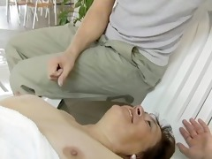 naughty aged floozy goes avid engulfing part1