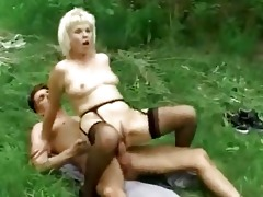 blond granny outdoor