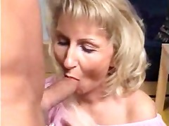 golden-haired mature likes ejaculation
