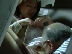 mature asian craves juvenile twat on his backseat