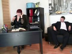 office lady pleases two dongs