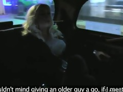 blond mother i fucking taxi driver at night