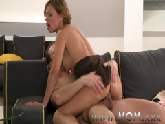 mamma brunette hair milf acquires screwed in