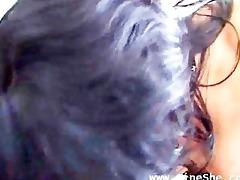 brunette hair milf against large hard pecker