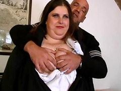 fat dark brown older lady likes engulfing part11