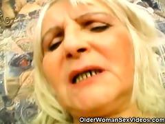 granny widening her unshaved beaver