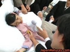older natsumi kitahara in sexy oriental group sex
