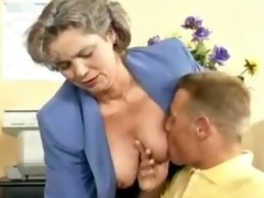 eager old mamma acquires schlong drilled in the