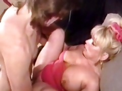 filthy golden-haired aged whore acquires p...