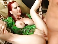 superb redhead milf with large mangos getting her