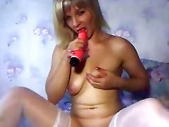 russian older mamma playing with dildos part 5