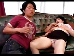 breasty older woman getting her milk shakes