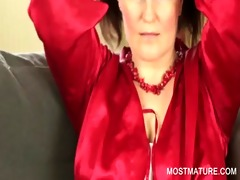 stockinged mommy showing large boobs