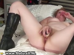 concupiscent breasty is enjoying jerking off