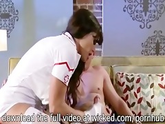 sexy breasty nurse lisa ann makes her patient all