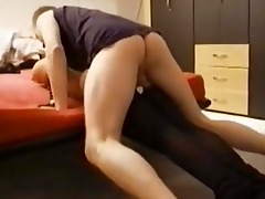 sex from behind with brunette hair wife