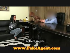 fakeagent older brunette hair takes anal in