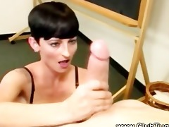 pixie chick can tugging hard dong