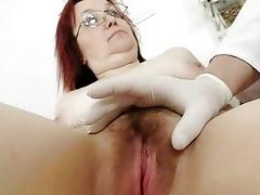 bushy grandma enema during a medical exam