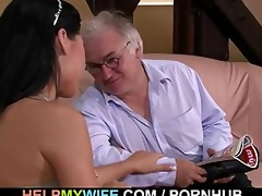 old hubby watches his fascinating wife fuck