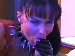 latex lady dominates an unsuspecting victim!