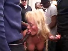 french breasty golden-haired aged team fuck