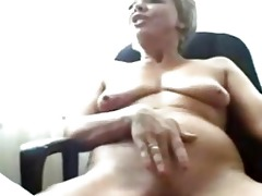 sexually excited granny on cam