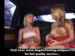dilettante breathtaking blond lesbos undressing