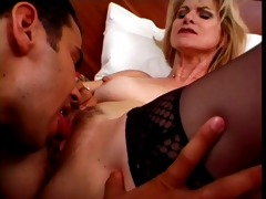 hawt blond older cougar bangs mmf escort
