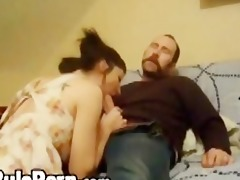 country wife takes jock on bed