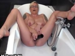 concupiscent aged lady fucking her own taut part0