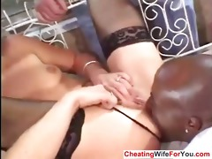 wife fucked by bbc and got a facial