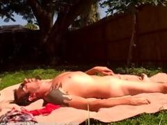 amateur couple garden fuck