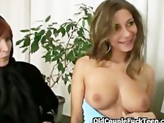 three-some with mature boss