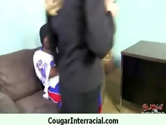wild cougar d like to fuck acquires group-fucked