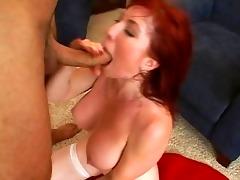 cute breasty redhead milf getting hard drilled