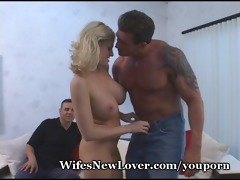 hubby gives up, asks ally to fuck wife