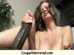naughty interracial cougar receives screwed