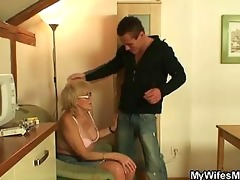 naughty granny obscene games with huge youthful