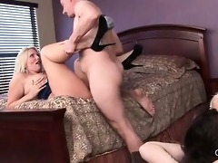 blond nympho cougars group-fucked hardcore in