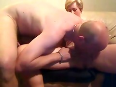 aged pair exchanging orall-service sex